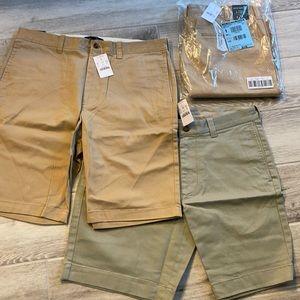 3 pair J. Crew men's shorts